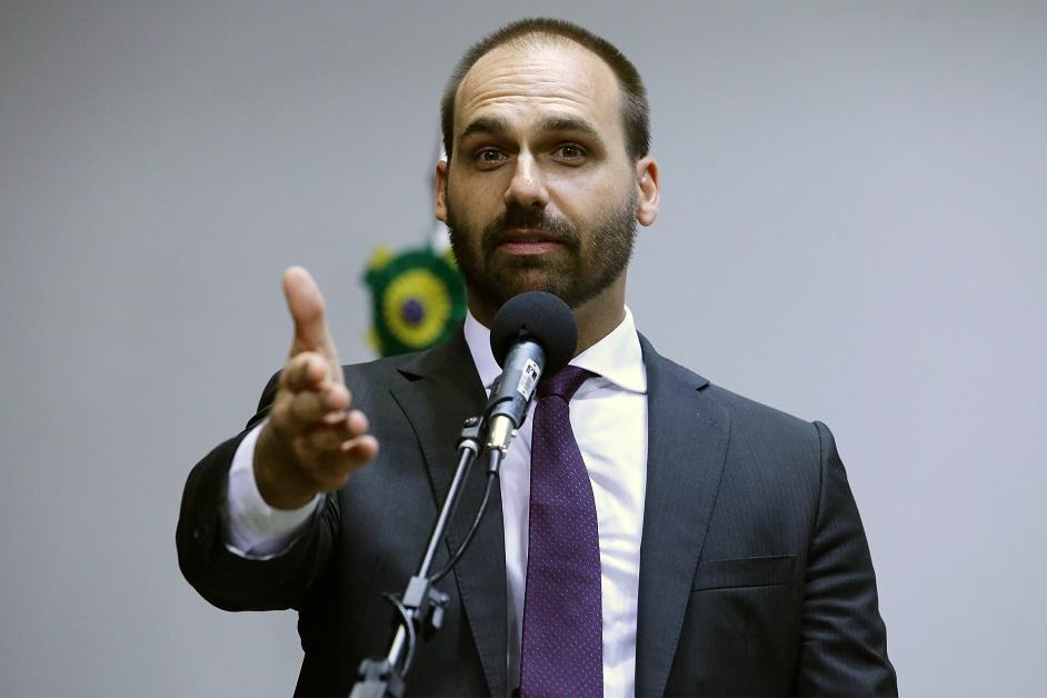 Eduardo Bolsonaro  Cleia Viana Câmara dos Deputados - Globo diz que Bolsonaro não vai indicar filho Eduardo à embaixada dos EUA