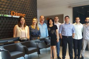Visita Hostdime - Secretário Durval Ferreira, presidente do Conselho Administrativo do Extremotec, visita mais uma empresa filiada ao Polo