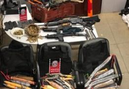 TERROR EM TEIXEIRA: Polícia apreende dinamites e armas de quadrilha que planejava atacar bancos
