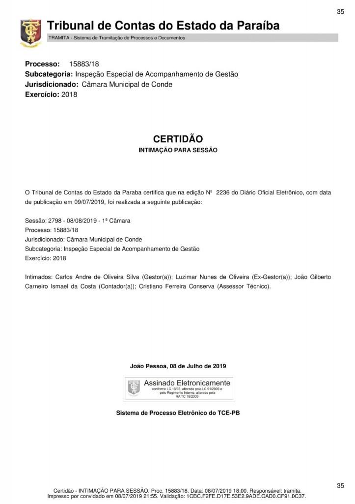 b29e3687 9637 43f4 83fd 4fedf701ca1a - Presidente da Câmara de Conde é intimado pelo TCE para que explique gastos com diárias
