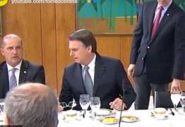 'NÃO TEM QUE TER NADA PARA ELE': Vaza áudio de Bolsonaro criticando João Azevedo durante café da manhã com jornalistas – VEJA VÍDEO