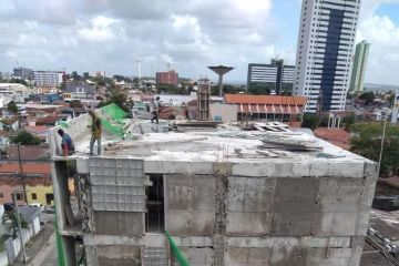 estrutura do predio que desabou na torre em jp - CREA revela construtora e nome do engenheiro de obra que desabou na capital; veja