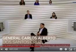 Apresentador acusa Roda Viva de 'censura velada' a entrevista com Santos Cruz