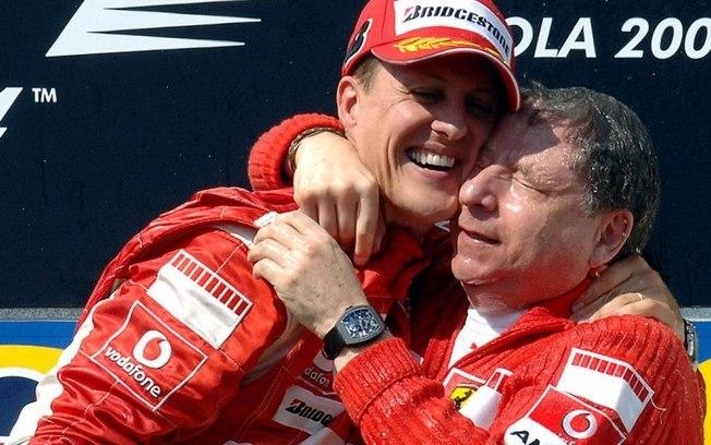 schumacher jean todt - Jean Todt revela ter assistido corrida com Schumacher e que estado de saúde do heptacampeão estaria evoluindo, 'Ele continua lutando'