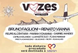 VOZES PELA VIDA: evento chega pela primeira vez na Paraíba e irá reunir nomes da música nacional