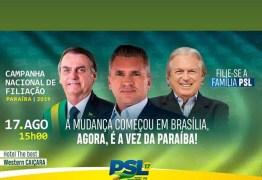 PSL pretende ultrapassar PT em número de filiados na Paraíba, diz Julian Lemos