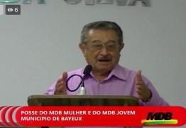 Em Bayeux, Zé Maranhão volta a mencionar Operação Calvário: 'Agora sei porque perdi a eleição'