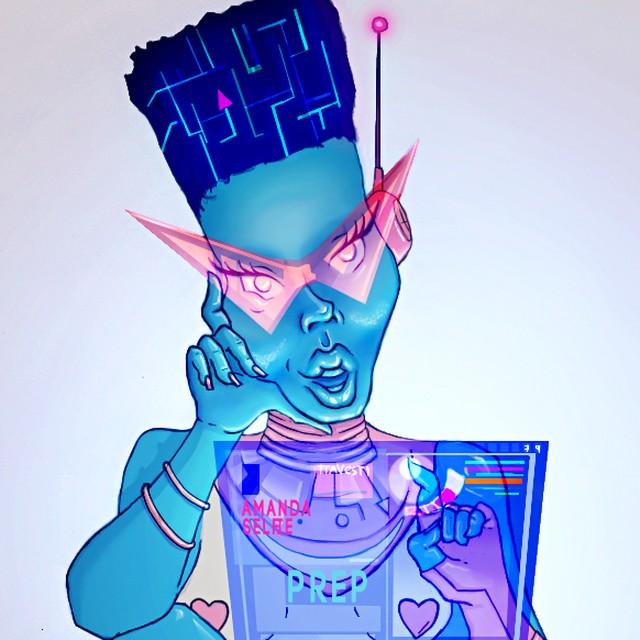 amanda selfie imagem do projeto - Robô trans é criada para conversar com jovens sobre gênero, sexualidade e ISTs