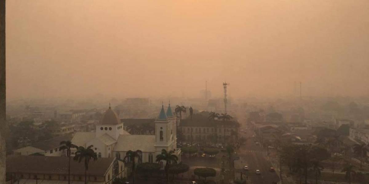 Queimadas em Rondônia deixam a capital imersa em fumaça