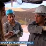 garimpeira - Garimpeira paraibana é destaque em reportagem sobre extração de pedras preciosas no Domingo Espetacular - VEJA VÍDEO