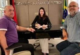 Presidente da FPF se reúne com dirigentes de Treze e Botafogo-PB antes do Clássico Tradição