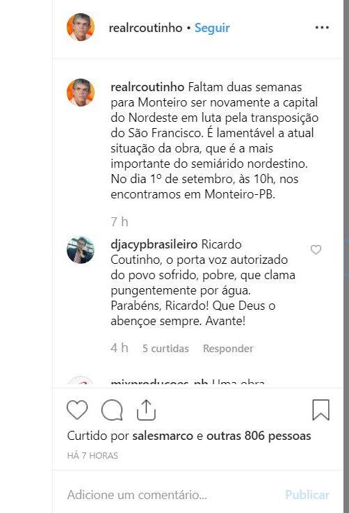 padre e1566153568767 - LUTA PELA TRANSPOSIÇÃO: Padre Djacy diz que Ricardo Coutinho é o porta voz do povo sofrido