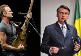 Em carta, Sting acusa Bolsonaro de negligência criminal em escala global por queimadas na Amazônia
