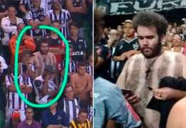 Torcedor viraliza ao improvisar camisa do Atlético com pelos – VEJA IMAGENS