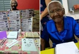 Após ser impedida de estudar, idosa de 104 anos aprende a ler e escrever para realizar grande sonho