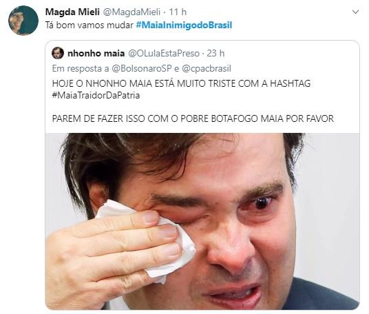 005 6 - Tag #MaiaInimigodoBrasil volta a ser um dos assuntos mais comentados no Twitter