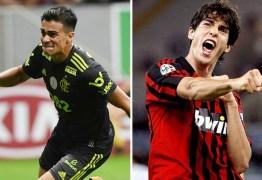 NOVO KAKÁ? Lisonjeado com comparação no Flamengo, Reinier vê semelhanças: 'Me inspiro nele'