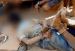 Suspeito de estupro é amarrado por população até a chegada da polícia