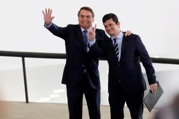 MORO E BOLSONARO - BASTIDORES: Sérgio Moro convence Bolsonaro a manter diretor geral da Polícia Federal