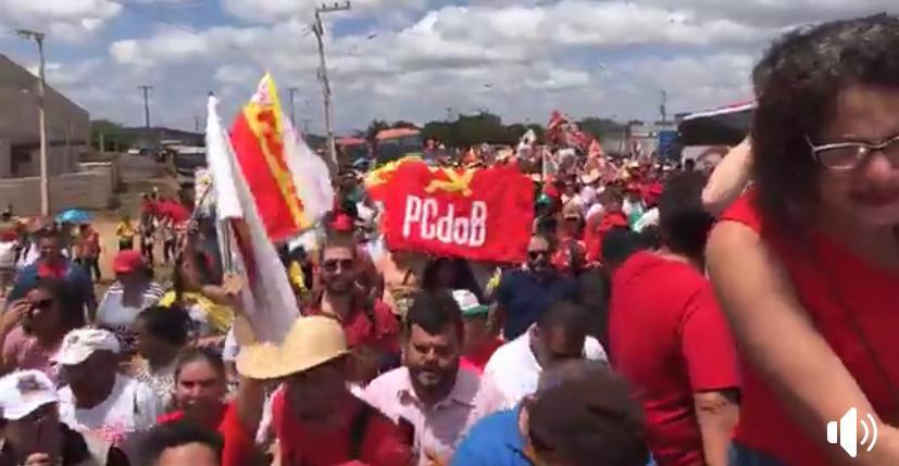 WhatsApp Image 2019 09 01 at 12.59.36 - SOS TRANSPOSIÇÃO: com Haddad, Gleisi e Ricardo, Monteiro pediu 'Lula Livre' e retorno das águas do São Francisco - VEJA OS VÍDEOS