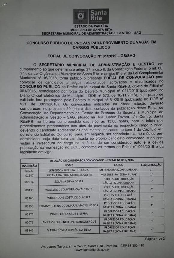WhatsApp Image 2019 09 06 at 12.34.31 1 e1567784419681 - Prefeitura de Santa Rita convoca concursados da educação e anuncia seleção para médicos, enfermeiro e procurador
