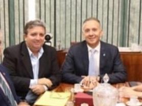 WhatsApp Image 2019 09 23 at 12.19.19 - Aguinaldo Ribeiro atendem pleitos de deputado e, prefeito do Sertão, em Brasília