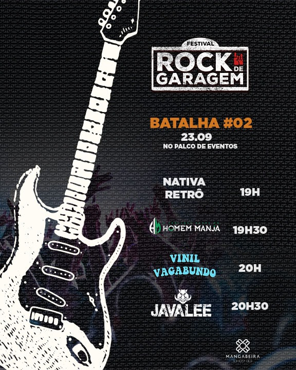 batalha 2 - Mangabeira Shopping realiza segunda batalha do Festival Rock de Garagem nesta segunda