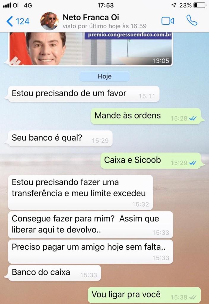 de253d35 0f80 4b9c 886b 50d6507427fd 1 - Telefone clonado: mais um político da Paraíba vítima de golpe