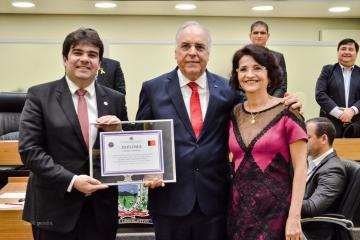 eduardeo carneiro - Sessão Especial celebra Dia do Administrador e concede título de cidadão paraibano a Geraldo Rosas