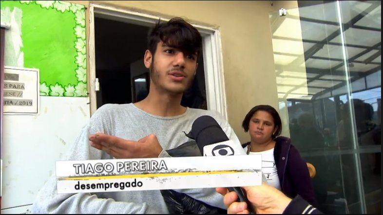 jovem thiago - Jovem da cidade de Patos aparece no Profissão Repórter e família o procura em SP - VEJA VÍDEO