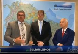 DIFERENÇAS DE LADO: Julian Lemos e Frei Anastácio se reúnem com ministro para resolver problemas no eixo leste da transposição – VEJA VÍDEO