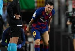 Barcelona vence Villarreal por 2 a 1 mas Messi sai de campo com dores