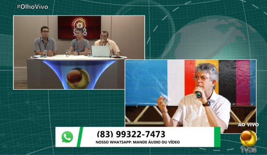 ricardo entrevista coutinho - ENTREVISTA: Ricardo Coutinho nega rompimento com João Azevêdo, mas admite que pode se tornar adversário se 'caminho' não for preservado; VEJA VÍDEO