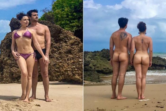 1 francis helena cozta praia de nudismo 13639097 - NUDES: Ex-Chiquititas posa pelada em praia de nudismo da Paraíba - VEJA FOTOS