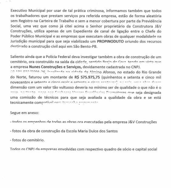 WhatsApp Image 2019 10 02 at 18.36.51 - Suspeita de superfaturamento em obras: MPF e PF recebem denúncia contra prefeitura de São Bento - VEJA DOCUMENTO