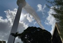 VÉU DE NOIVA: Torre da TV Cabo Branco passa por reparos e tela de contenção se solta – VEJA VÍDEO