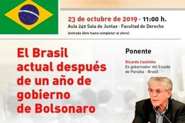 'UM ANO DO GOVERNO BOLSONARO': na Europa, Ricardo Coutinho fará palestra sobre democracia no Brasil