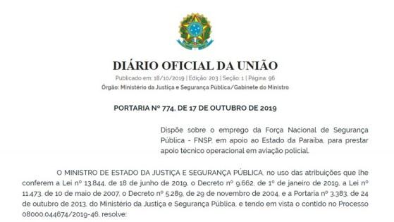 forca nacional paraiba 300x169 - Uso da Força Nacional na Paraíba é autorizada por Sérgio Moro