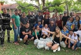 MANTEVE EM SEGREDO: Cantora Lexa distribuiu cestas básicas na cidade de Sapé durante visita