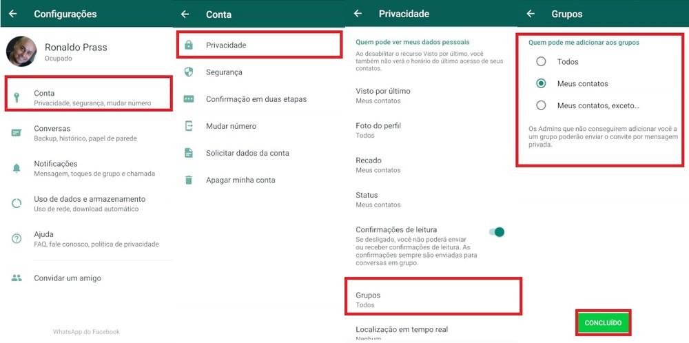 passoapassogrupos - WhatsApp vai liberar opção para impedir que usuário seja colocado em grupo sem ter autorizado