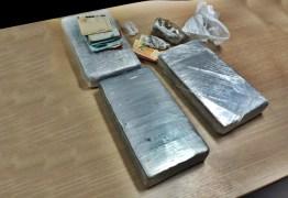 Ação conjunta entre PRF e Policia Civil apreendem 3kg de cocaína na Paraíba