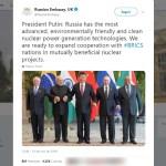 15nov2019 embaixada russa esquece de bolsonaro em foto do brics 1573846111680 v2 900x506 - 'SAUDADE DO EX': Embaixada russa 'ignora' Bolsonaro em foto do Brics e usa arquivo de 2017 com Temer