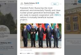 'SAUDADE DO EX': Embaixada russa 'ignora' Bolsonaro em foto do Brics e usa arquivo de 2017 com Temer