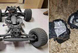 Adolescente tenta contrabandear 100 mil dólares em metanfetamina usando carrinho de controle remoto