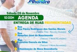 OBRAS: Prefeito Renato Mendes inaugura pavimentação de ruas de Alhandra