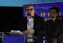 INVESTIMENTOS CULTURAIS: João Azevêdo participa do Fest Aruanda e anuncia edital para festivais de cinema