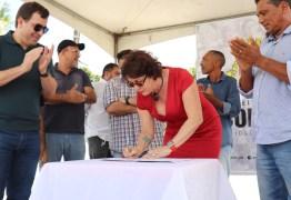 RECURSOS PRÓPRIOS: Márcia Lucena assina Ordem de Serviço para revitalização do Centro de Conde