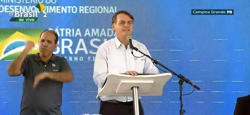 BOLSONARO CAMPINA GRANDE - Em discurso, Bolsonaro exalta região Nordeste e destaca proximidade com povo 'cabra da peste'; VEJA VÍDEO