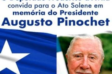 Ditador Pinochet será homenageado em evento na Assembleia Legislativa de SP