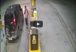 Câmeras de seguram flagram assalto a posto de combustível na cidade de Pilar; VEJA VÍDEO